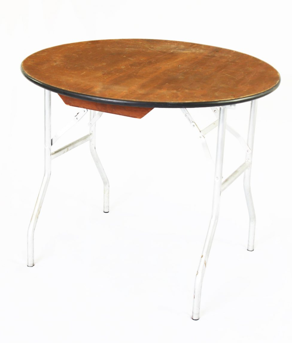 48_ Round Wood Table