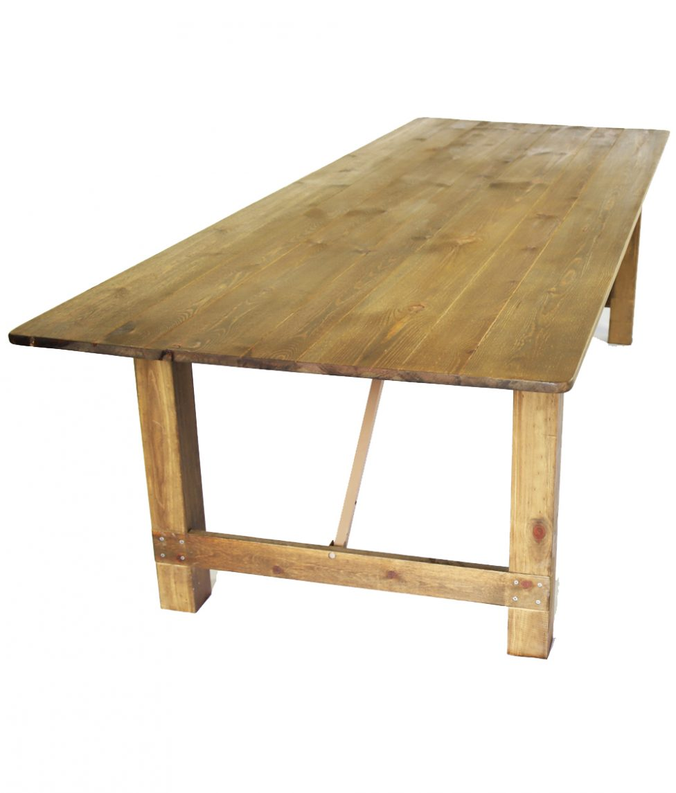 40_x108_ Rustic Wood Farm Table