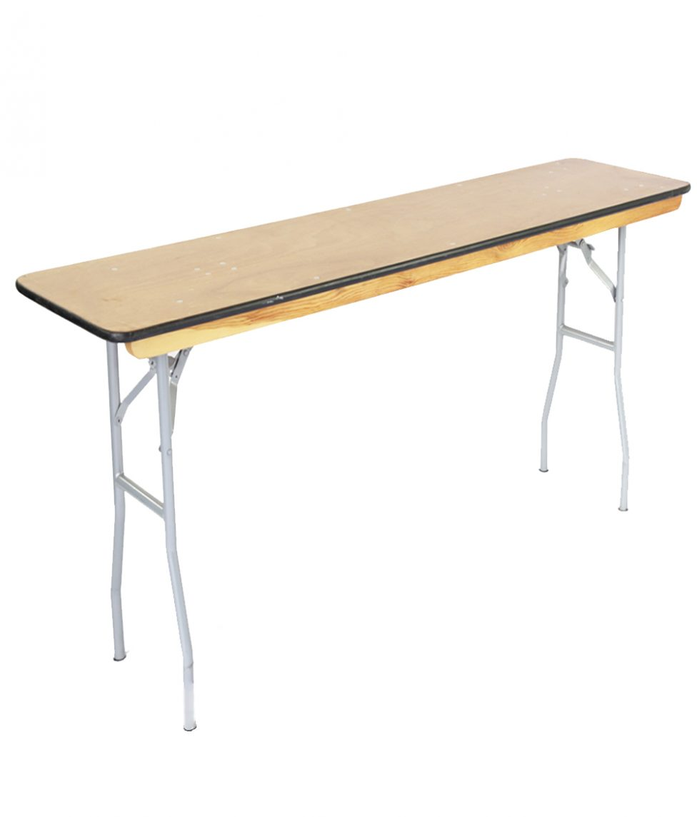 4_x18_ Wood Narrow Banquet Table