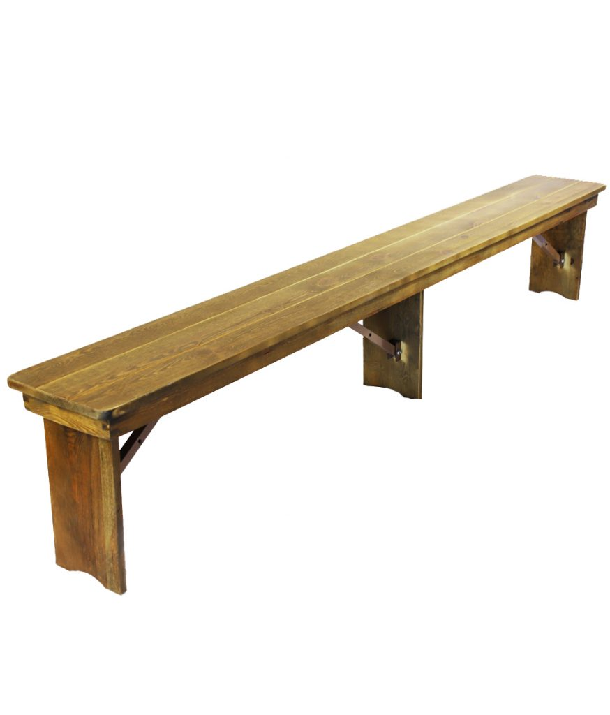 96 Rustic Wood Bench