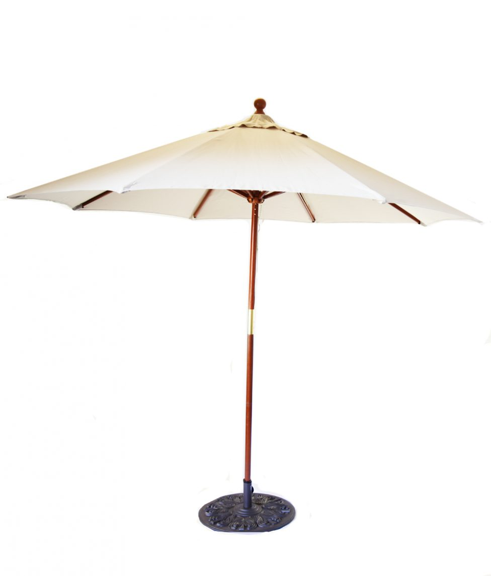9ft Umbrella w Cast Iron Stand