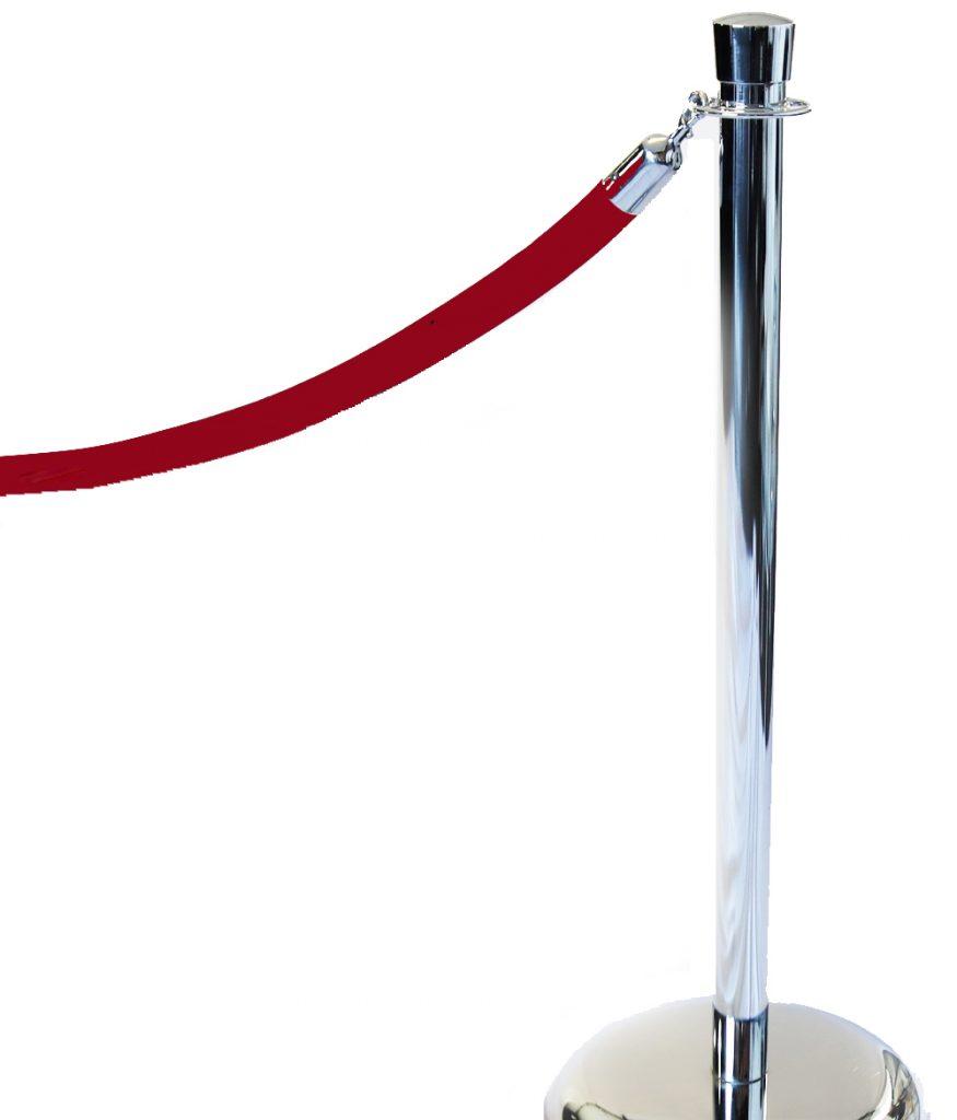 Heavy Red Velvet Rope (10' each)
