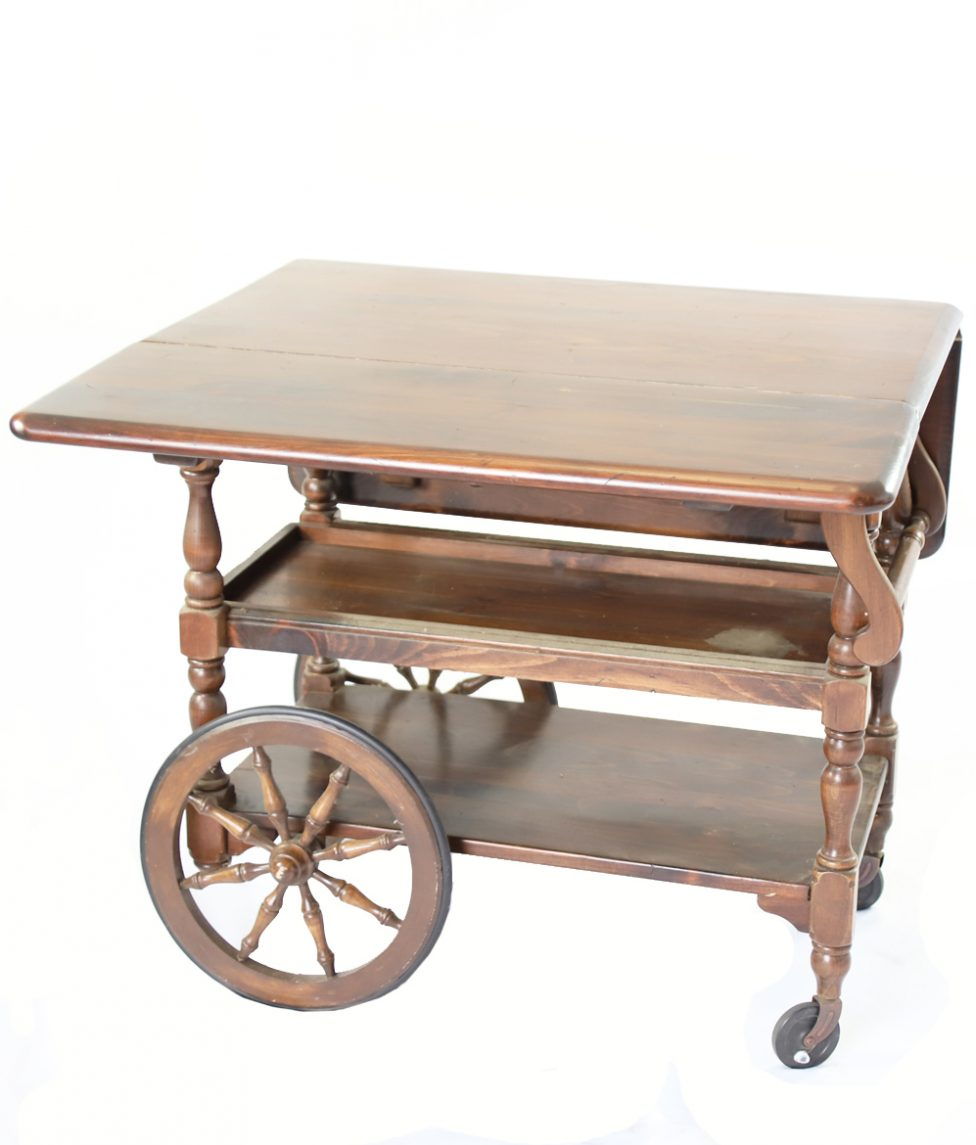 Rolling Tea Cart w_Side Up
