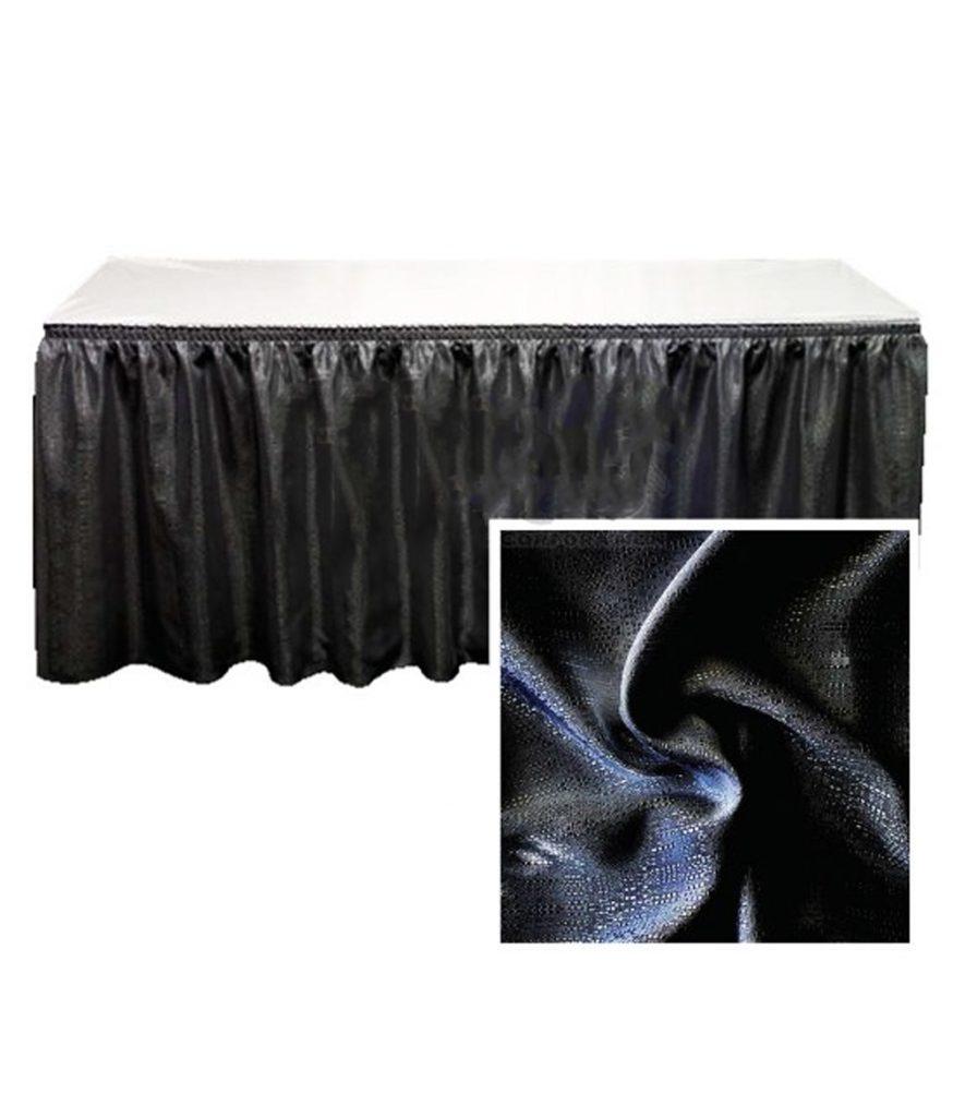 Table Skirt, Black