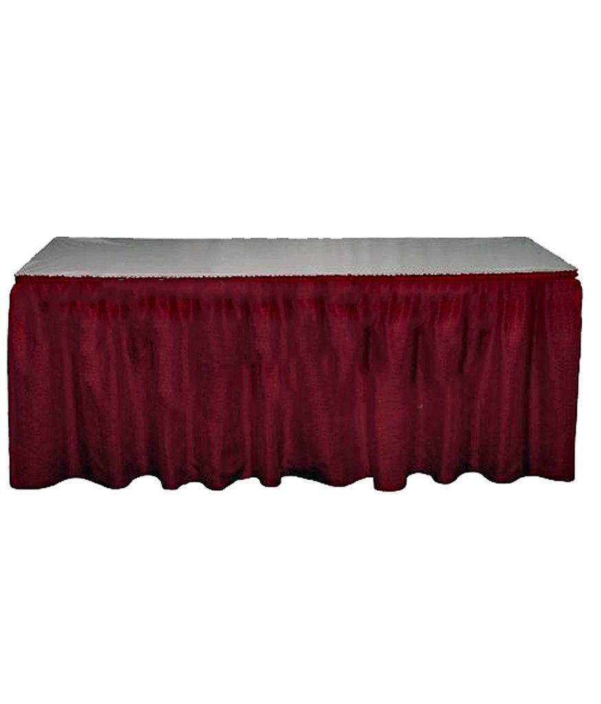 Table Skirt, Burgundy