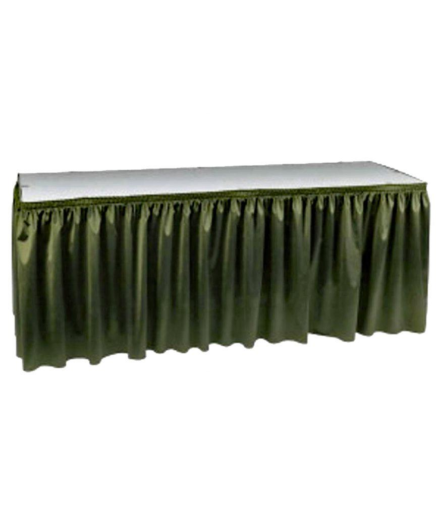 Table Skirt, Forest Green