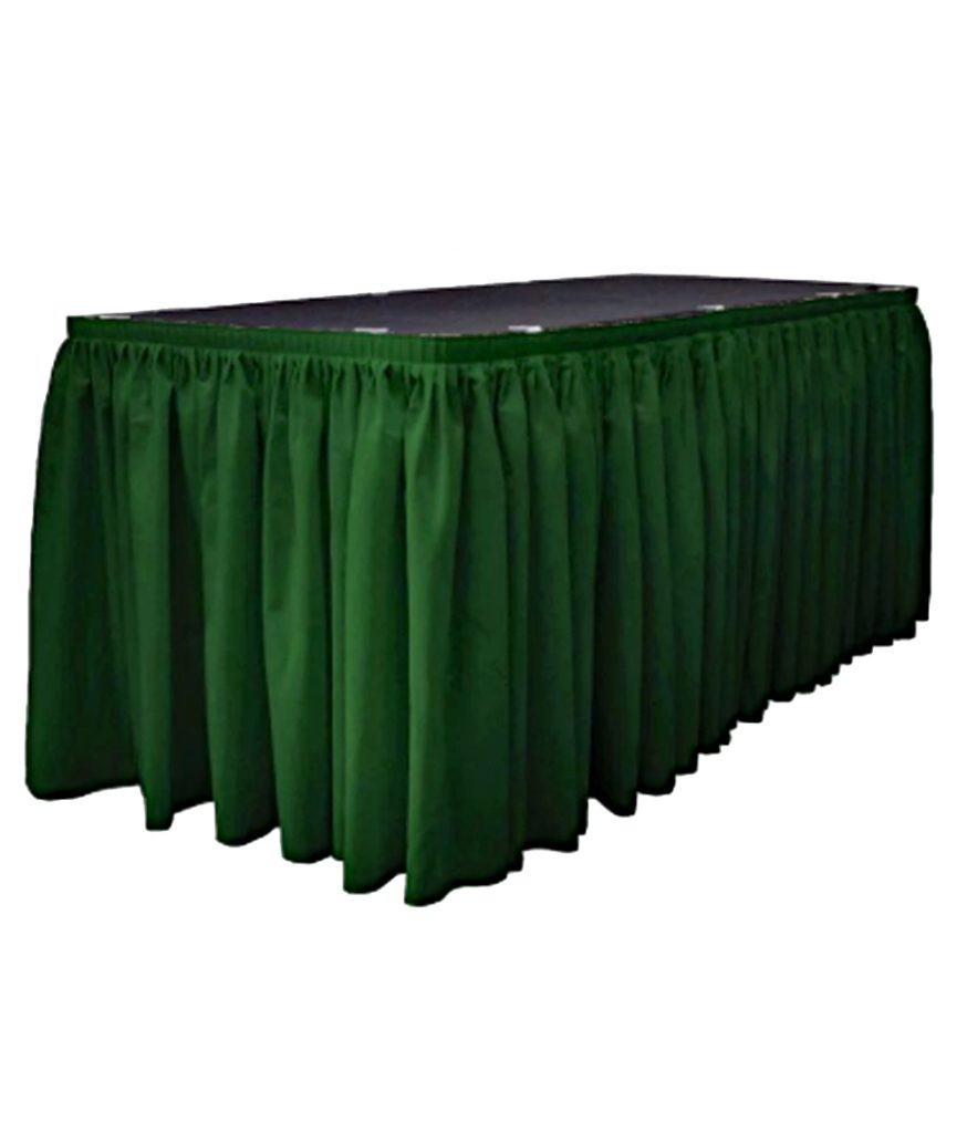 Table Skirt, Hunter Green