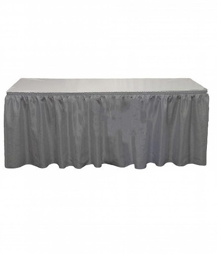 Table Skirt, Silver