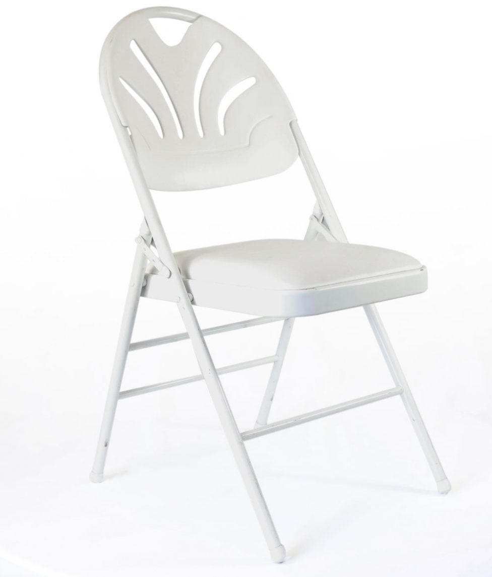 White-Round-Top-Padded-Folding-Chair-5