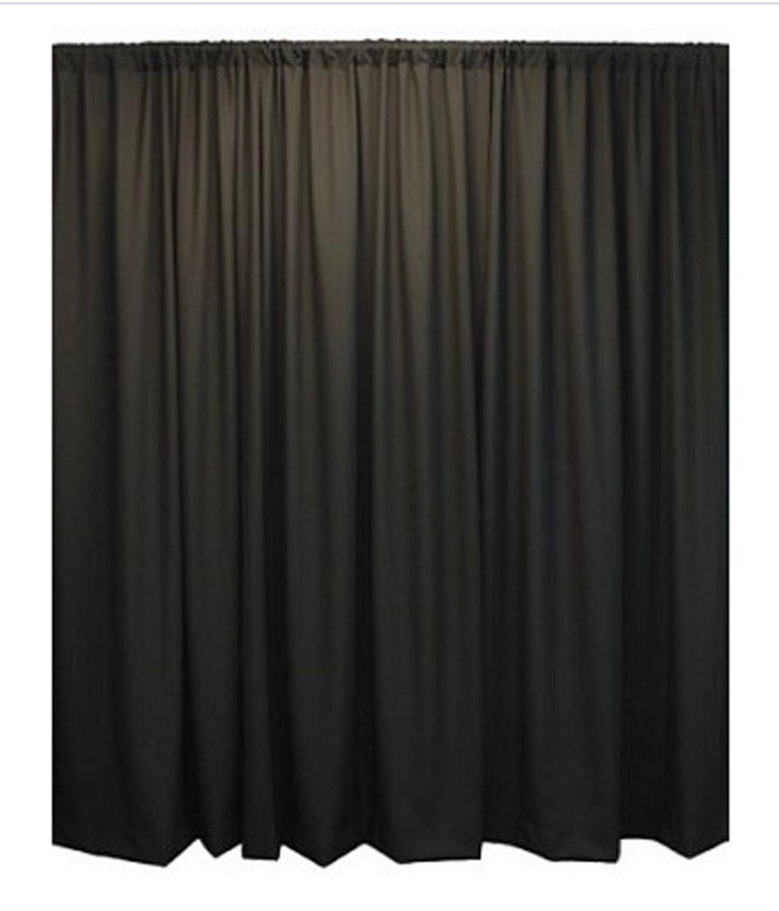 20' Theatrical Drape Black