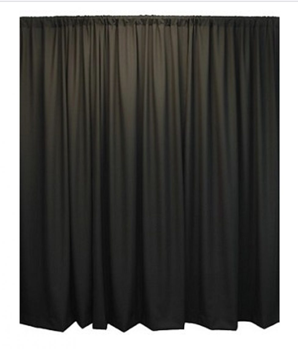 20' Theatrical Drape Black