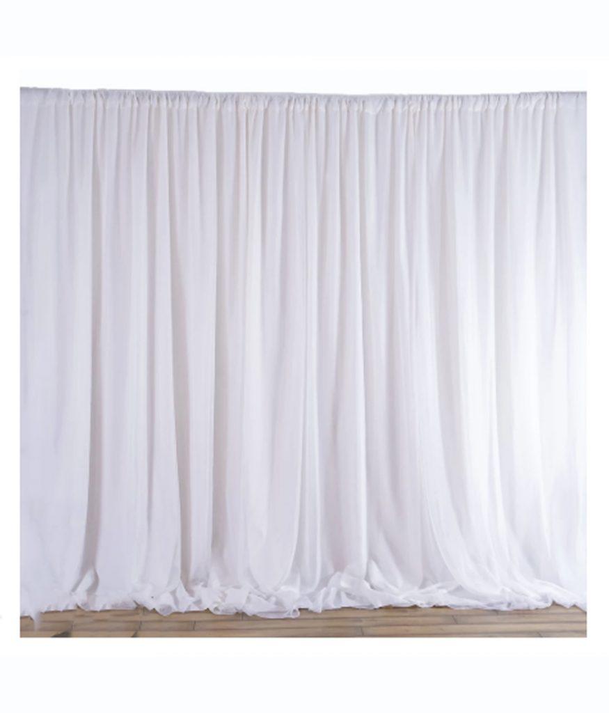20' Theatrical Drape White